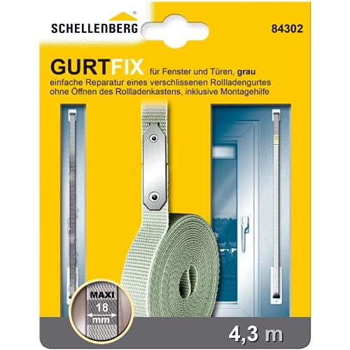 Schellenberg 84302 Gurtfix 18 mm/4.3 m, grau