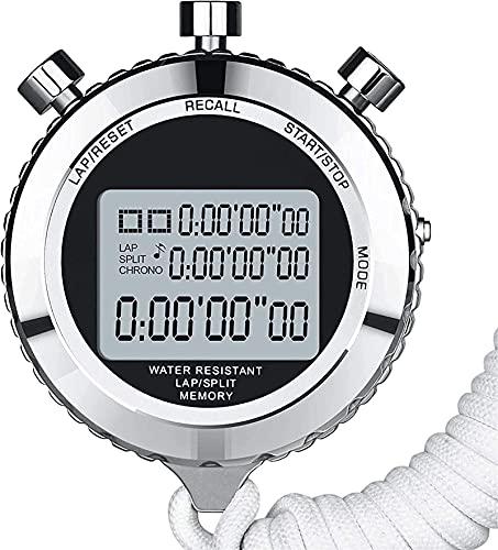GLLP Cronómetro de cronómetro multifunción Multifunción, árbitro Deportivo dedicado cronógrafo cronómetro, cronómetro de Baloncesto