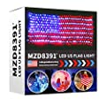 MZD8391 American Flag Lights, 420 Super Bright LEDs Flag Net Light,Waterproof US Flag Light for Independence Day Yard Garden Party Christmas Decorations (Upgraded Version)