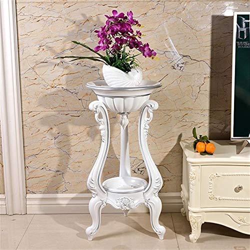 Hyzb Sala de Estar Cubierta Soporte de Flor de Tierra de múltiples Capas Maceta de Flores de plástico Simple balda Colgante Suelo del balcón Orquídea destacan Europea (Color : 8)