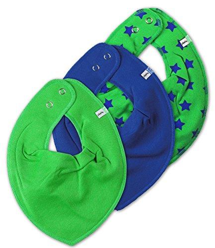 Lot de 3 écharpes pour bébé - Différents motifs - Pippi - Multicolore - Taille Unique