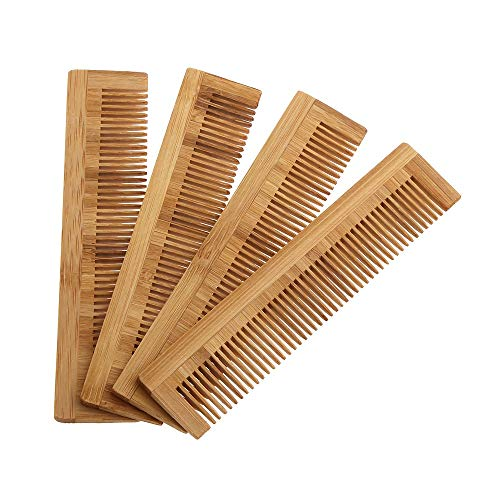 YMYGCC Brosse à Cheveux 1pcs de haute qualité massage peigne en bois de bambou cheveux Vent Brosse Brosses à cheveux Soins et Beauté SPA massage Peigne Soins des cheveux (Color : Natural)