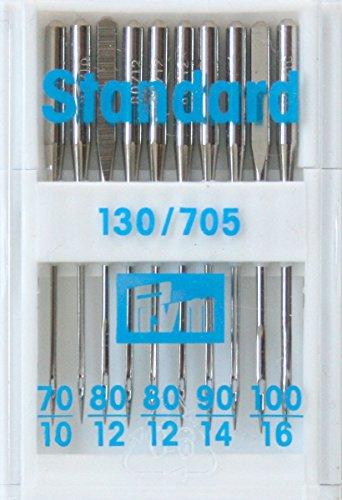 Prym 152297 Nähmaschinennadeln 130/705 Standard, 70-100, Metall, silberfarbig, No. 80