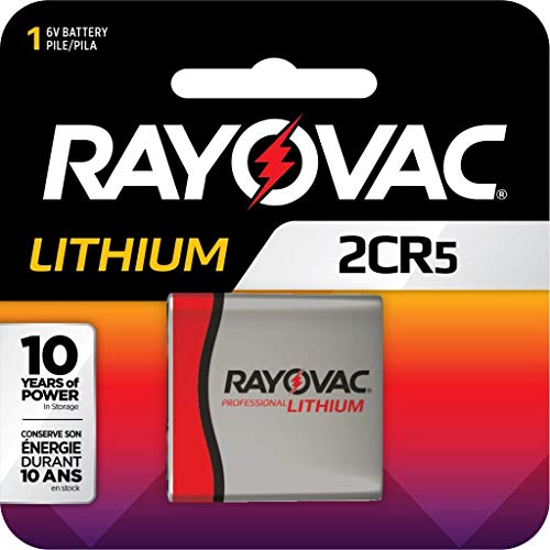 Rayovac Lithium Photo Battery 2CR5 Size