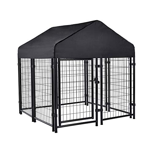 AmazonBasics Welded Outdoor Wire Crate Kennel, Small (53 x 48 x 53 Inches)
