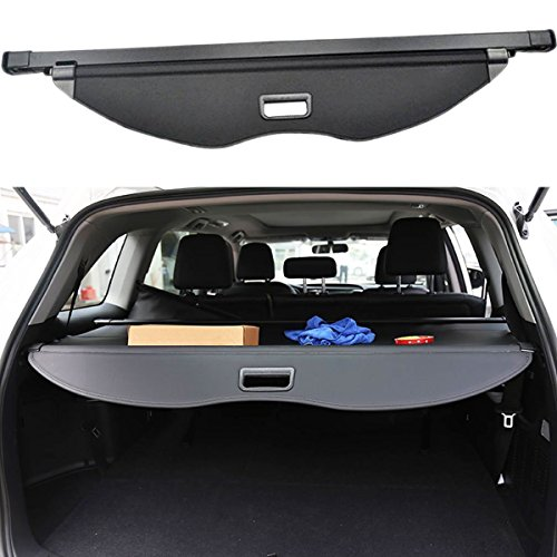 Danti Black Retractable Rear Trunk Cargo Luggage Security Shade Cover Shield for Ford Escape 2013 2014 2015 2016 2017 2018 2019