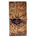 YHB Case for Galaxy S9 Plus - Marauder's Map Vintage Pattern Leather Wallet Credit Card Holder Pouch Flip Stand Case Cover for Samsung Galaxy S9 Plus