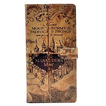 YHB Case for Galaxy S9 Plus - Marauder s Map Vintage Pattern Leather Wallet Credit Card Holder Pouch Flip Stand Case Cover for Samsung Galaxy S9 Plus