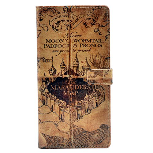 Galaxy S9 Case, Marauder's Map Vintage Magic Badge Pattern Leather Wallet Credit Card Holder Pouch Flip Stand Case Cover for Samsung Galaxy S9 (2018)