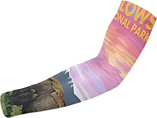 DKJDcnvksp Yellowstone National Park Arm Sleeves for Men Or Women-for Basketball Golf Running Football Cycling Or Sun Protection