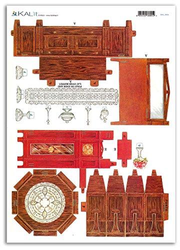 Accademia del Decoupage 32 x 45 cm Pendolo Krishnaa Shyam 'Casa mobili Carta di Riso, Multicolore