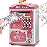 Salvadanaio elettronico bancomat, salvadanaio con protezione tramite password, salvadanaio automatico con rotolo di carta, ottimo regalo di compleanno di Natale per bambini e bambine