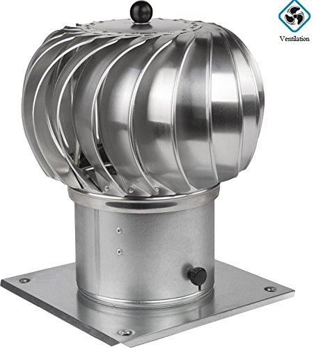 Kaminaufsatz drehbarer Kugelaufsatz Schornsteinaufsatz Lüftungsaufsatz Ofen Kamin Turbo (⌀200mm)