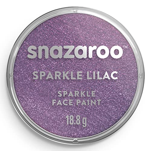 Snazaroo Classic Face and Body Paint, 18ml, Sparkle Lilac