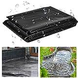 QUACOWW Teichfolie Zuschnitt Teichfolie Gartenteichfolie 1 x 2 m Schwarz 0.2 mm Wasserdicht Fischteich-Bettfolien Undurchlässige Folie für Wasserbecken Wasserfall-sichere Teiche