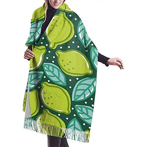 Cathycathy limoen peper munt eten en drinken citroensjaal wrap warm scarf cape groot scarf
