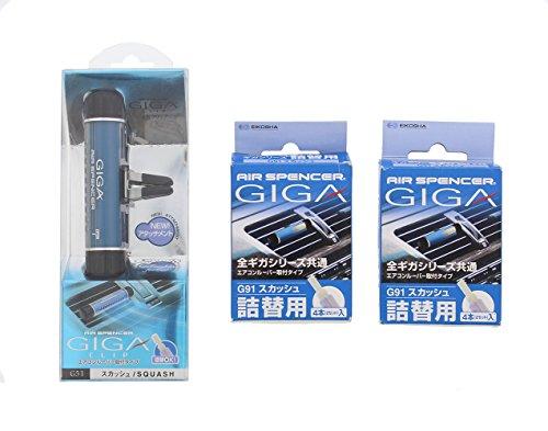 Air Spencer GIGA Clip Car Air Freshener and Refills - Squash Scent