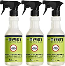 Mrs. Meyer's Clean Day Multi-Surface Cleaner Spray, Everyday Cleaning Solution for Countertops, Floors, Walls and More, Lemon Verbena, 16 fl oz - Pack of 3 Spray Bottles