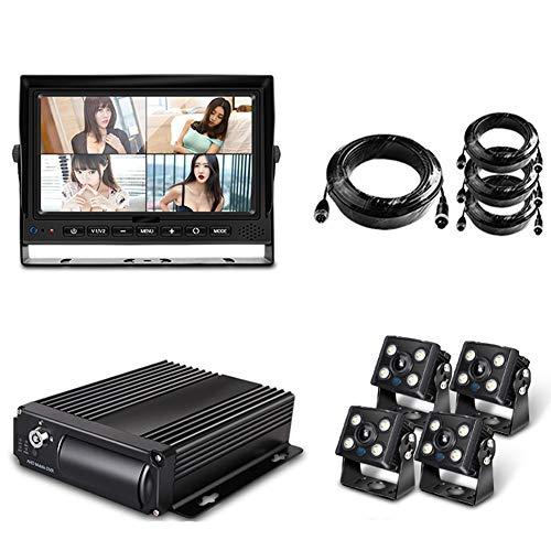 4 Canali SD 1080P AHD Mobile Veicolo Dvr Security Camera Kit Di Sistema Con 7 Pollici VGA Auto Monitor 4 Impermeabile Posteriore Laterale Vista Posteriore Di Visione Notturna Telecamere Auto Per RV