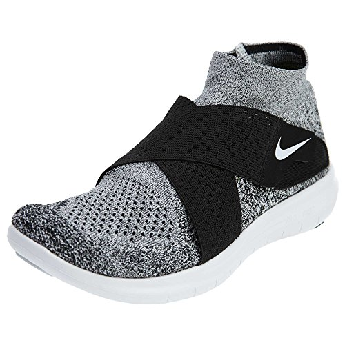 Nike Nike Herren Free Rn Motion FK 2017 Traillaufschuhe, Mehrfarbig (Black/White/Pure Platinum/Wolf Grey 001), 44 EU