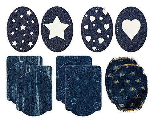 Mono-Quick Jeansflicken, Bügelflicken, Patches, 9.5 x 11.5 cm, 14
