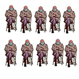 Multi Pack of Bernie Sanders Mittens Sticker 2021 Bernie Sanders Mittens Sitting Inauguration Meme Funny 4.25' by 2' Clear Background Indoor Stickers (10 pc, A)