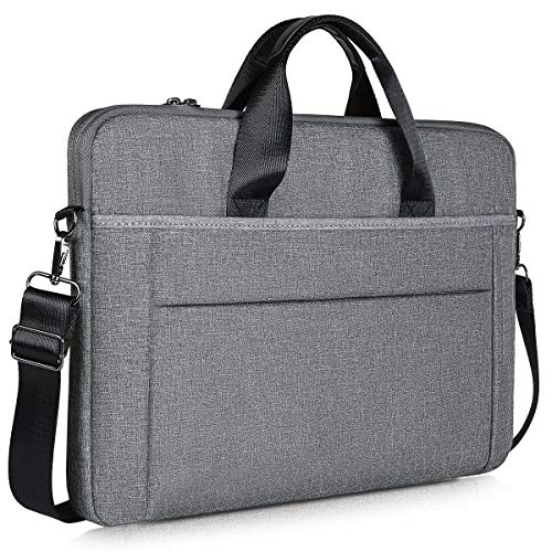 17-17.3 Inch Slim Laptop Case Shoulder Bag for HP 17.3 Laptop, Acer Predator 17, Dell Inspiron 17, Ideapad L340 17.3, 17 inch Water Resisatant Business Briefcase Bag for Men and Women, Grey