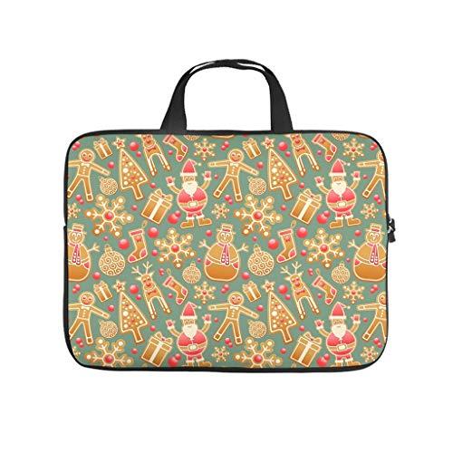 laptoptasche mit weihnachtsmann motiv und
