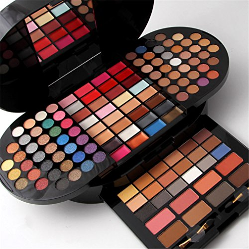 FantasyDay 98 Couleurs Fard à Paupières Palette de Maquillage Cosmétique Set avec 12 Poudre pour le Visage, 4 Correcteur, 4 Fard à Joues et 12 Rouge à Lèvres