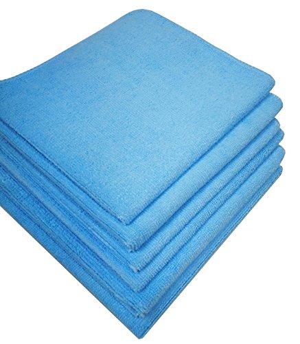 Preisvergleich Produktbild Damilo 6X hochwertige Mikrofasertücher Poliertuch Putztuch Microfaser / geeignet für Haushalt,  Industrie,  Auto und Gewerbe / 40x40cm / Blau