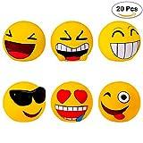 Lote de 20 Huchas Emoticonos - Huchas para Niños, Infantiles, Juveniles, Detalles y Recuerdos Comuniones, Bodas, Cumpleaños, Comunión, Comunion, Cumeplaños