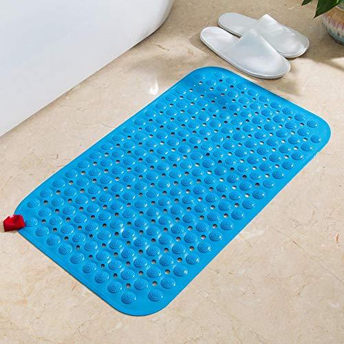 xin24, badmatten, badkuipmat, douchematten, antislip, badmatten, korrelmassage, milieuvriendelijk, antislip, niet giftig, met zuignap, blauw, 46 x 78 cm