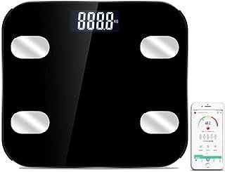 HYY-AA Báscula Báscula Bluetooth, Digital Inteligente Baño Báscula Báscula inalámbrica, 180Kg / 400 Libras Negro