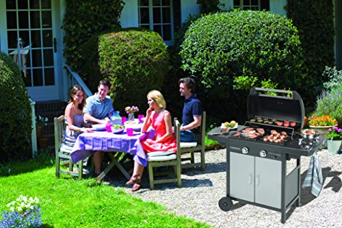 Campingaz 2Series Classic EXS Vario Barbecue a Gas, Grigio Scuro, 127.4 x 54.1 x 108.5 cm