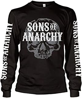 Sons of Anarchy Officially Licensed Merchandise Motorcycle Club Long Sleeve T-Shirt (Black)