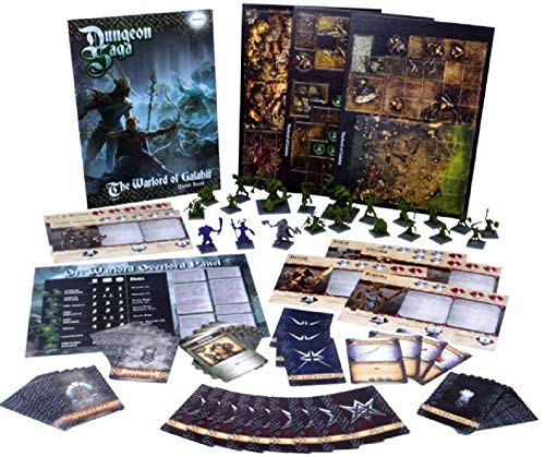 Mantic Games MGDS04 - The Warlord of Galahir - Fantasy 28mm Miniature Adventure Strategy Board Game - English Edition