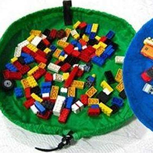Bolsa de almacenamiento de juguetes Bolsa de almacenamiento de juguetes para niños Portátil Lego Toys Organizador Poliéster Plegable Bolsa de cordón plegable Multifuncional Herramientas de almacenamie
