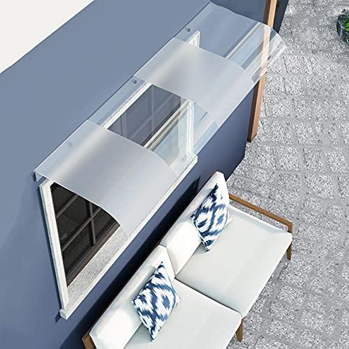 Toldo duradero para puerta de patio, toldo para ventana, para exteriores, lluvia y sol, 40,6 x 47 cm