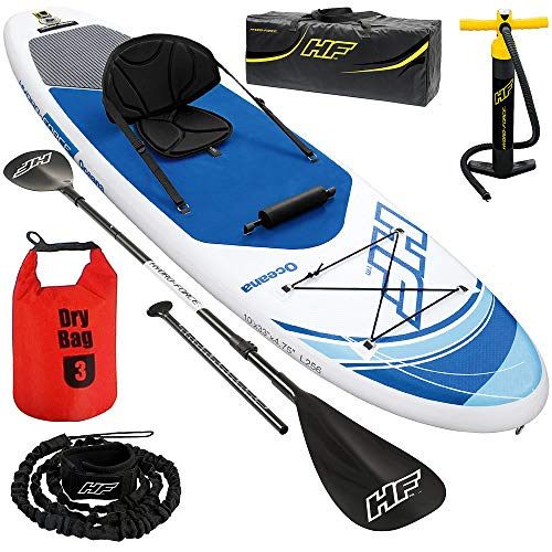 SUP Stand Up Paddle Board | 130kg | Drybag | 305x84x12cm | Kajak Sitz | Surfboard aufblasbar iSUP Leash Paddel