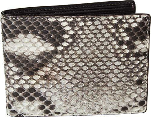 Etabeta Artigiano Toscano - Cartera de hombre sin monedero de auténtica piel de pión roca certificada CITES - Fabricada en Italia, Roca 4 (Gris) - Roccia 4_2020