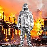 Arbeitsoveralls Strahlung Anzug Mehrwegoverall Hitzebeständige Anzug Anti Thermische 1000 Grad...