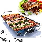 Rauchfreier Elektrogrill 220V Elektrogrill mit Antihaft-Spachtel - Grill-Backblech Rauchfreies Grillblech 100~250 ° C Hochtemperaturregelung, für Küche zu Hause im Freien