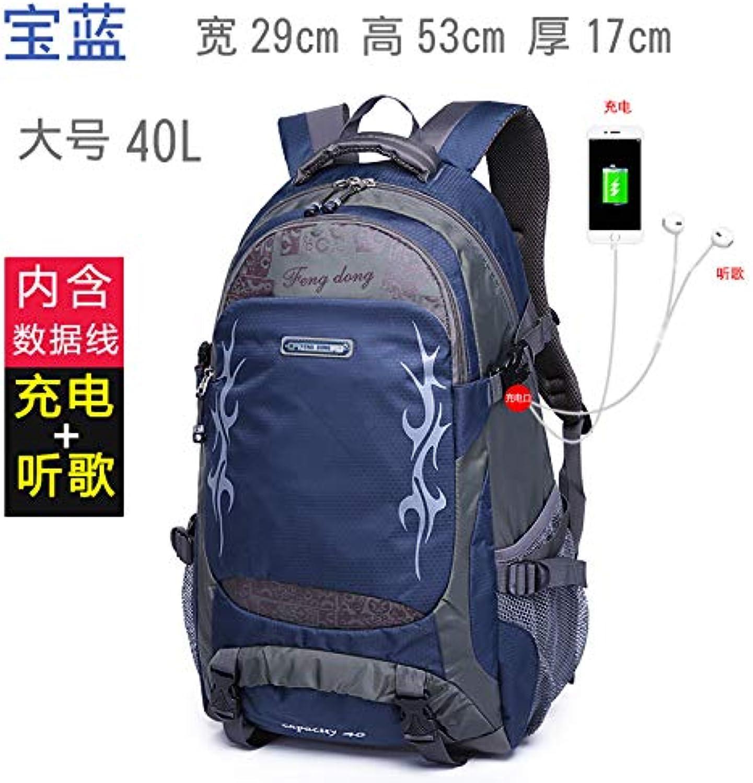 Travel Backpack Men's Leisure Travel Backpack Female Lightweight Large-Capacity Backpack Outdoor Sports Waterproof Mountaineering Bag
