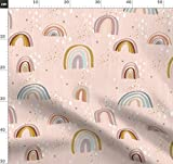 rosa, blassrosa, Regenbogen, boho Stoffe - Individuell