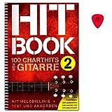 Hitbook 2-100 Chart Hits für Gitarre (mit Melodielinie + Texten und Akkorden) - Notenbuch mit Dunlop Plek - Verlag Bosworth BOE7898 9783865439932