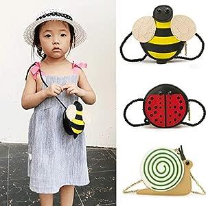 Baby Girls Tassel Purse Handbag Children Kids Cross-Body Shoulder Bag Gifts Cartoon Animals Bag Snail Ladybug Bee