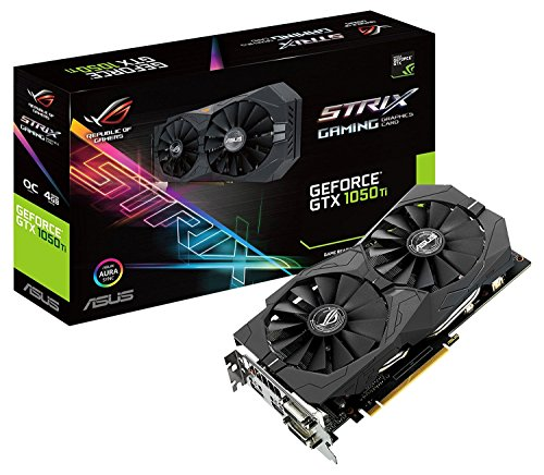 Asus GeForce STRIX-GTX1050TI-O4G-GAMING Scheda Grafica da 4 GB, DDR5, 1493 MHz