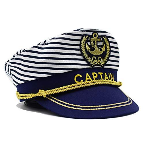 FHHYY militaire pet captain hoed kostuum marine admiraal hoed voor kostuum accessoire zeeman boot Snapback hoed verstelbaar