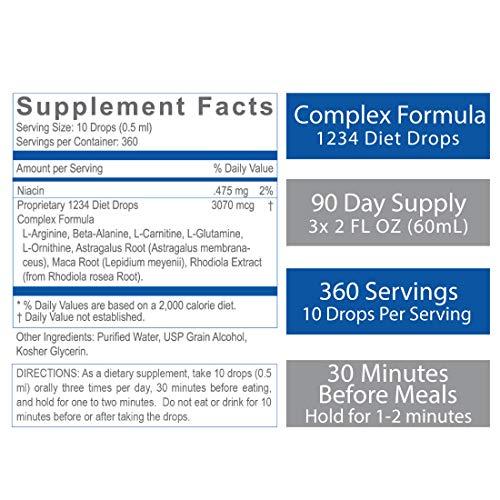 Creative Bioscience 1234 Diet Drops (3 Pack) - Weight Loss Drops - Original Amino Complex - Keto Diet - Intermitted Fasting - 1234 Diet Plan, 2 Fl Oz (3 Pack) 5