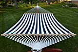 Styled Shopping Deluxe Extra Large Two Person Blue and White Quilted Hammock Set...